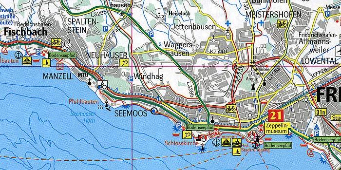 Umgebung Friedrichshafen Bodensee Stadtplan Ubersicht Stadtteile