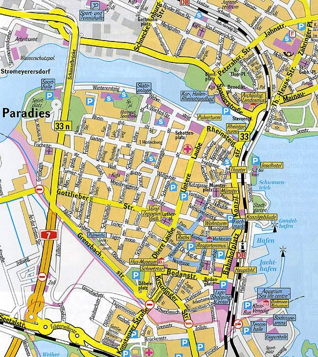 konstanz karte Stadtplan Konstanz Bodensee   Stadtplan, Stadtpläne, Landkarte  konstanz karte