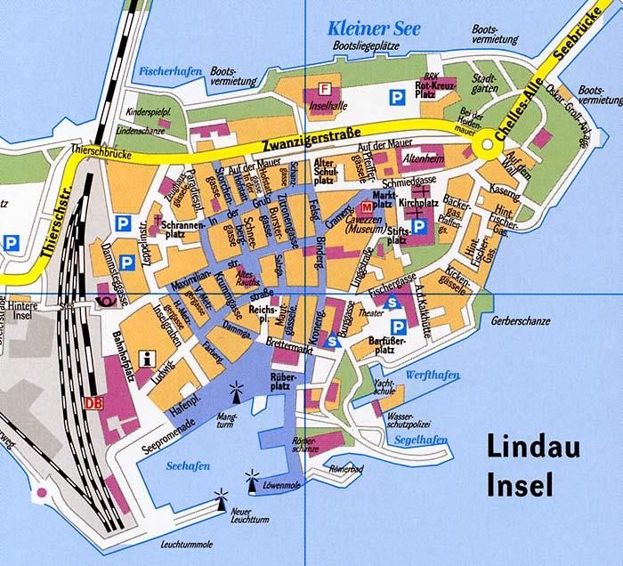 lindau bodensee karte Stadtplan Lindau Bodensee (Insel / Altstadt)   Stadtplan