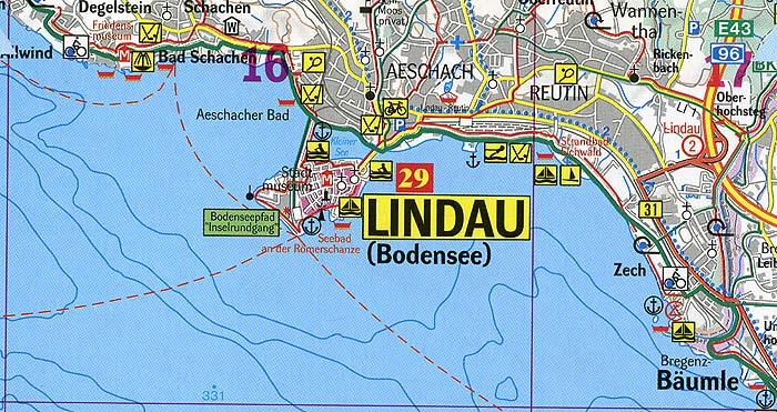 Umgebung Lindau Bodensee Stadtplan Ubersicht Stadtteile Und